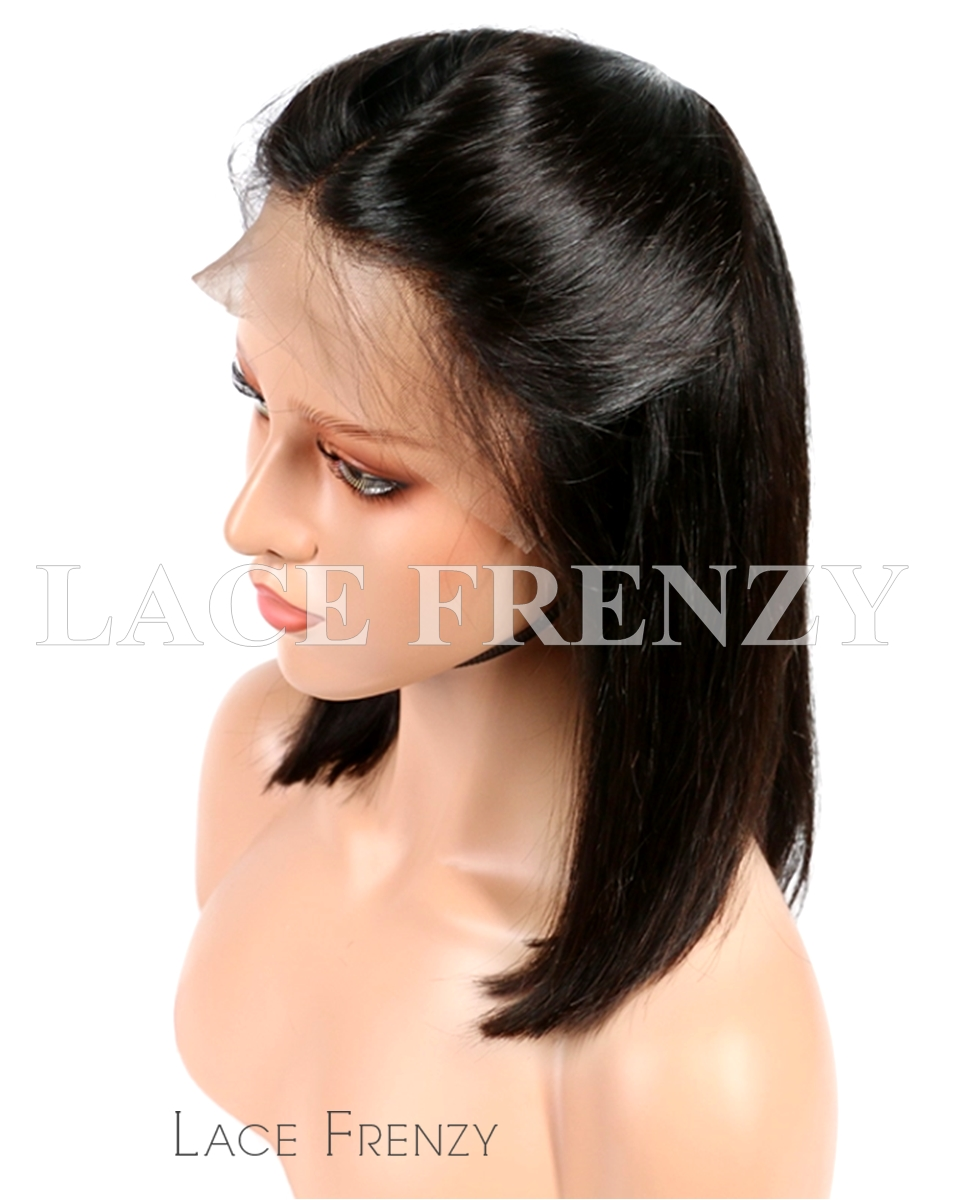 Brazilian Virgin Human Hair -Bob Cut - 360 Frontal Wig