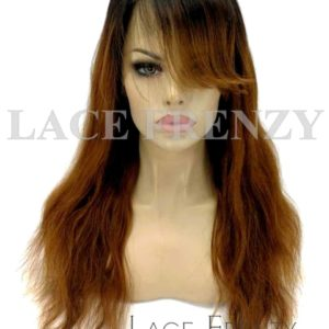 Ombre' Handtied Bang -Brazilian Virgin Human Hair - 360 Frontal Wig