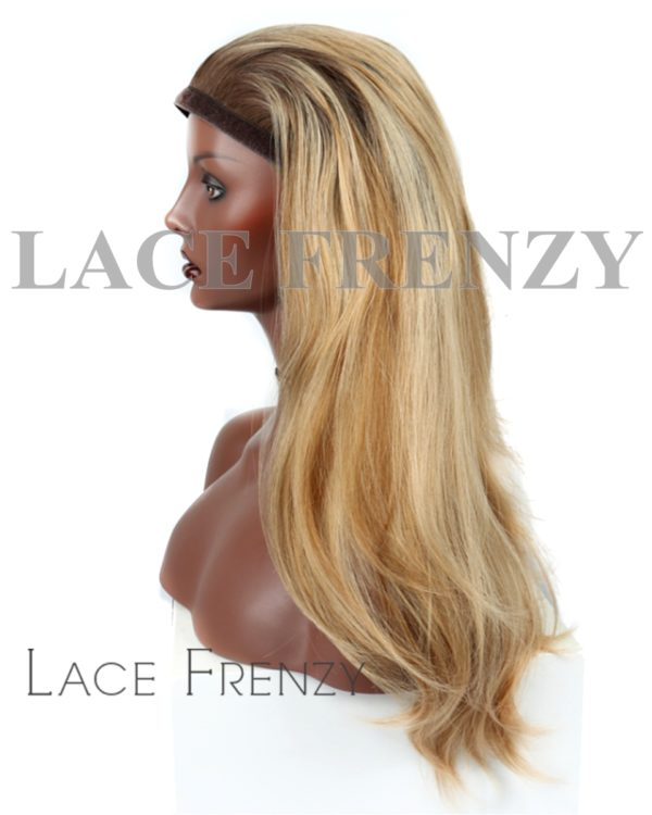 Custom Color Brazilian Hair Jewish Bandfalls Ponytail Wunder Wig