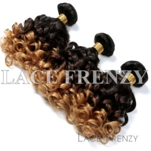 3 Toned Virgin Human Hair - Bouncy Curls -Layered Bundle Hair