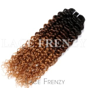 3Tone Kinky Curly Virgin Human Hair - 100g Machine Weft