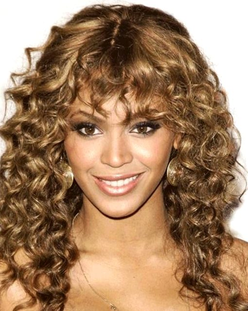Beyonce - Fringe Bang Curly Celebrity Custom Lace Wig