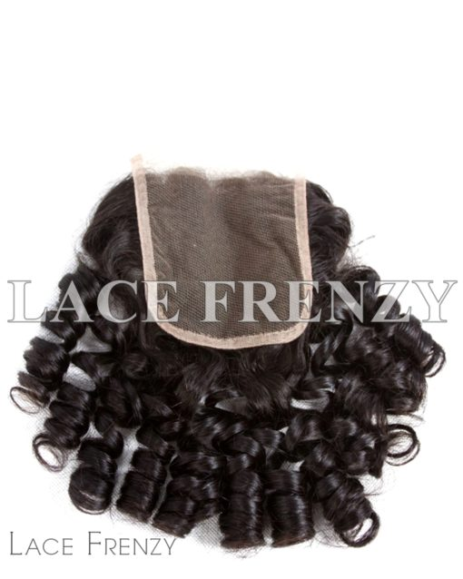 Bouncy Curls - 4x4 Inches - Lace Top Closure