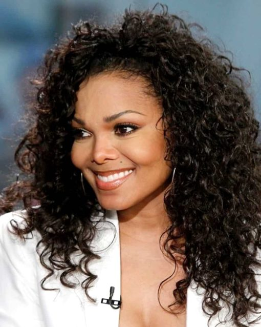 Janet Jackson Deep Curly- Custom Celebrity Lace Wig