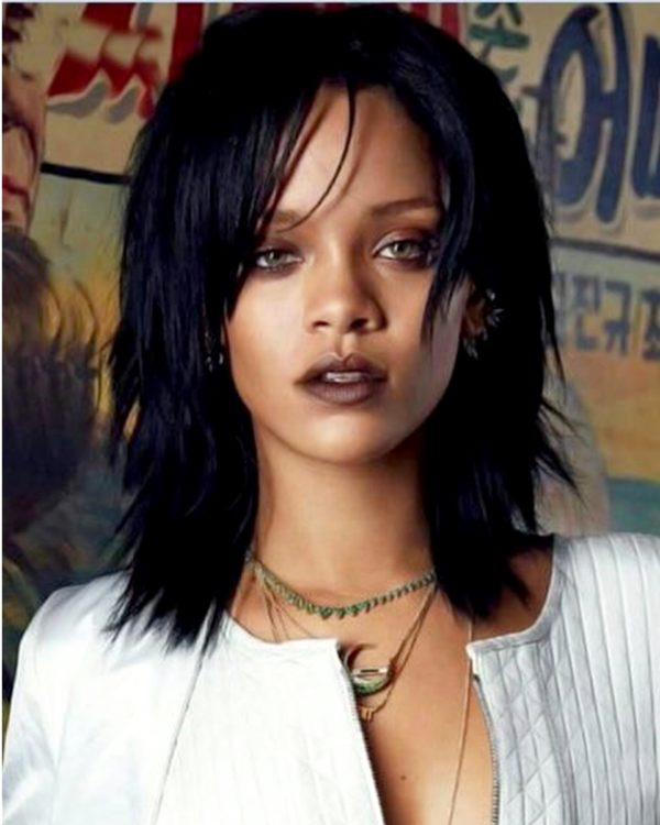 Rihanna Layered Bob Style Custom Celebrity Lace Wig