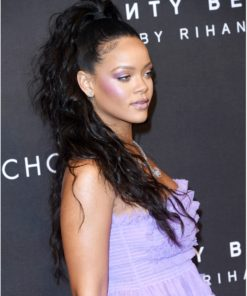 Rihanna Semi Custom Natural Wavy Virgin Human Hair Ponytail Extension