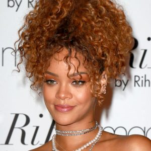Rihanna Ombre Curly Semi Custom Virgin Human Hair Ponytail Extension
