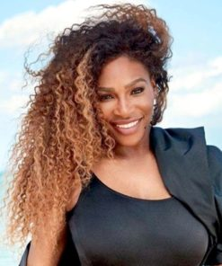 Serena Williams Two Tone Kinky Curl - Celebrity Custom Lace Wig