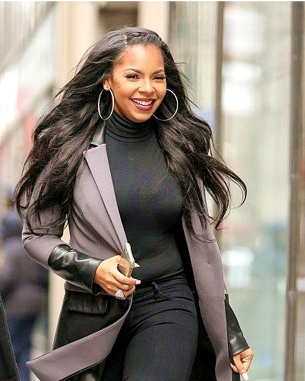Ashanti Natural Straight Celebrity Custom Lace Wig