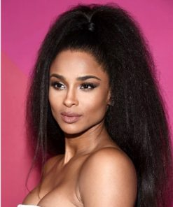 Ciara Kinky Straight Semi Custom Virgin Human Hair Ponytail Extension