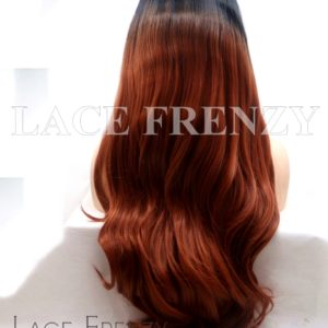 Foxxy 22 Inches Ombre' Slight Wave Lace Front Wig