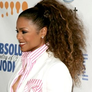 Janet Jackson Semi Custom Curly Highlight Virgin Human Hair Ponytail Extension