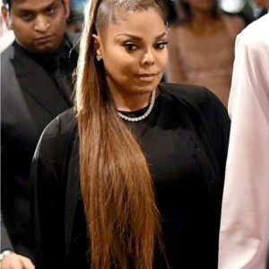 Janet Jackson Semi Custom Straight Virgin Human Hair Ponytail Extension