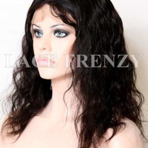 Khalia Natural Straight Malaysian Virgin Human Hair Silk Top Full Lace Wig