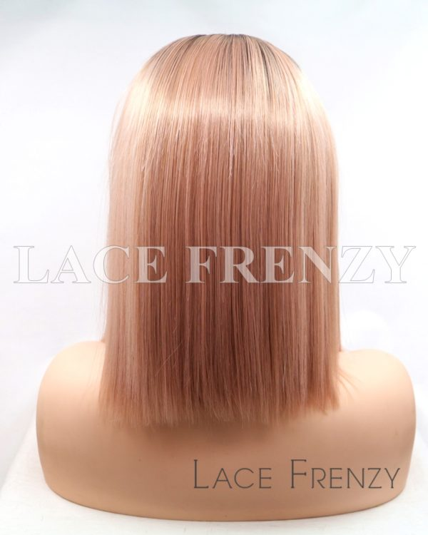 LeeAnne Ombre' Straight Bob Cut Lace Front Wig