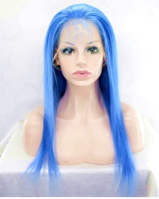 Virgin Human Hair Colored Straight Lace Front Wig