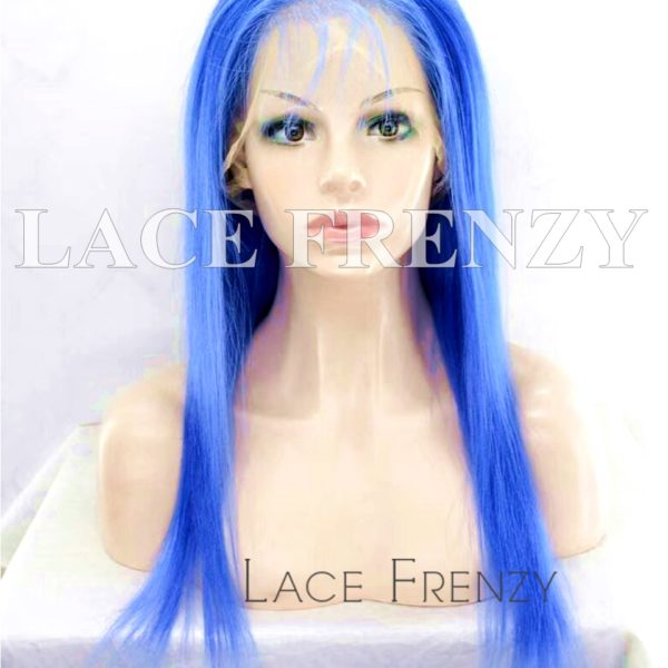 Virgin Human Hair Colored Straight Lace Front Wig Lace Frenzy Wigs