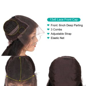 13x6 inches lace front wig cap construction