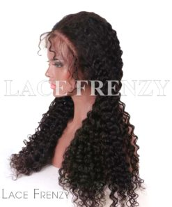 Deep Curly Virgin Human Hair 13x6 Inches Lace Front Wig