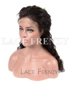 Carey Deep Wave Chinese Virgin Hair Silk Top Lace Front Wig