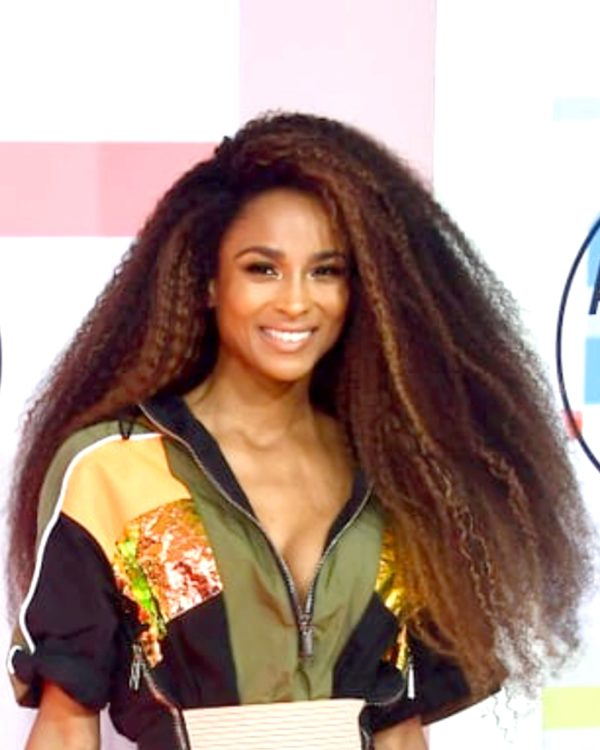Ciara Afro Kinky With Highlights Custom Celebrity Lace Wig