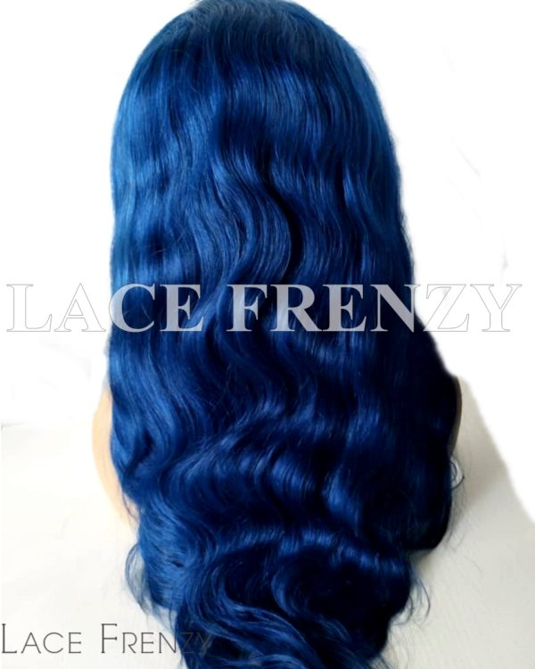 Majesty Blue Body Wave Virgin Human Hair Lace Front Wig