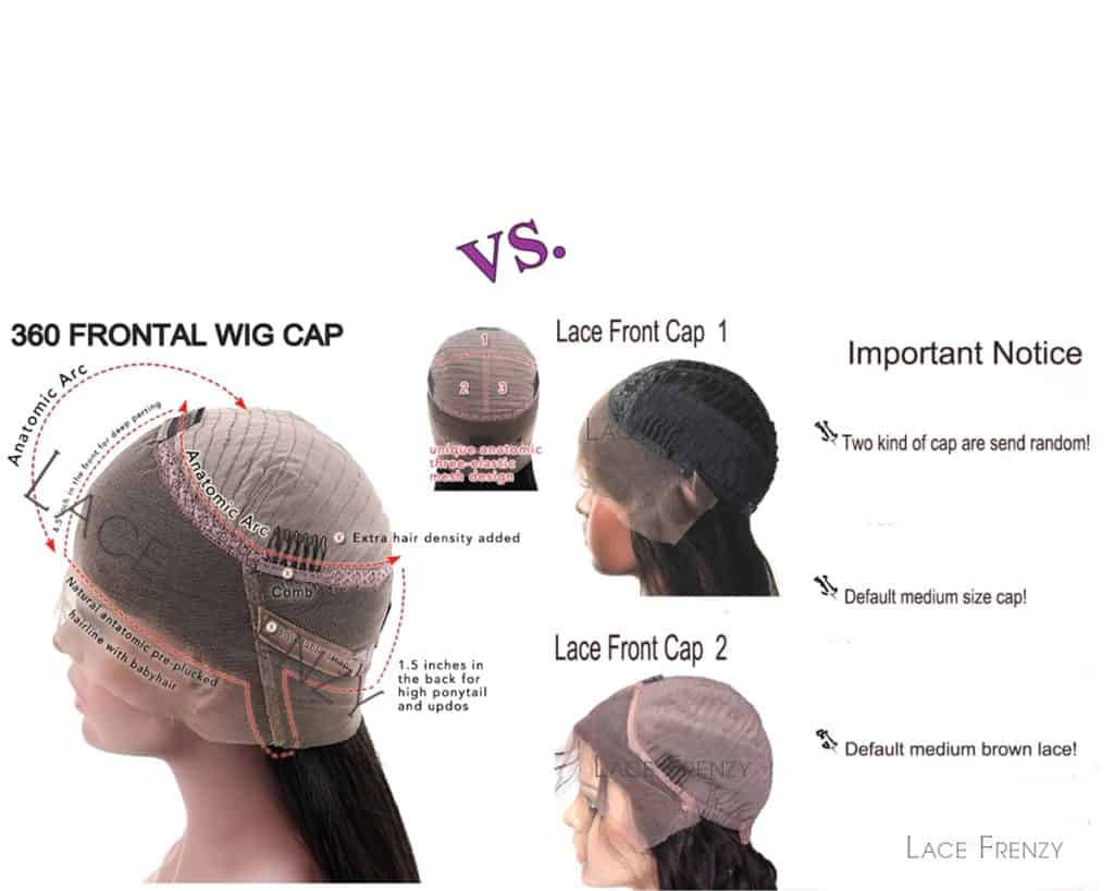 Lace Front Wigs with Straps VS. 360 Frontal Lace Wigs with Straps