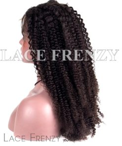 Kinky Curly Burmese Virgin Human Hair 13x6 Inches Lace Front Wig