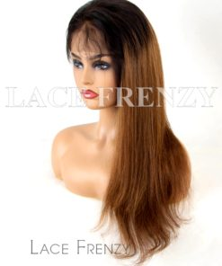 Peruvian Virgin Human Hair Straight Ombre' 360 Frontal Wig