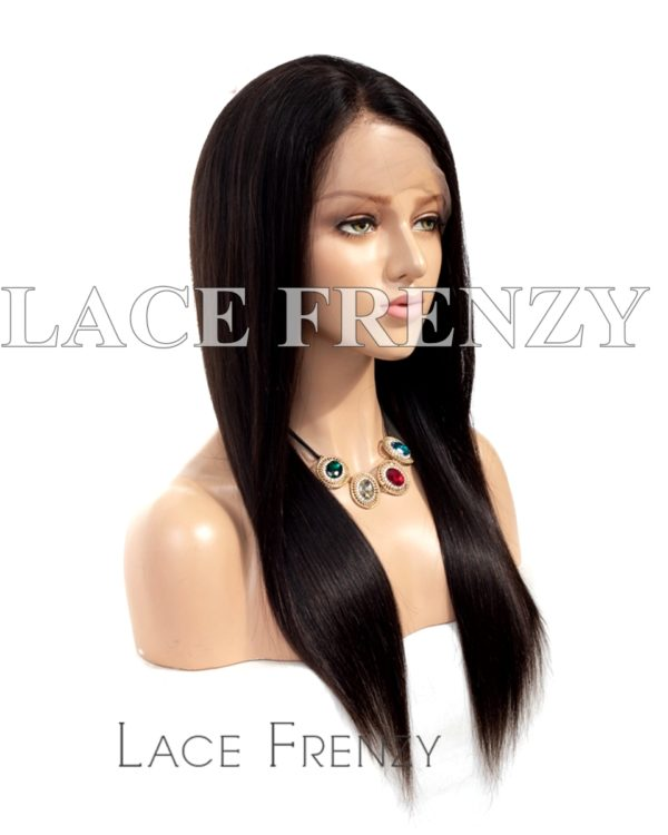 Straight Burmese Virgin Human Hair 13x6 Inches Lace Front Wig