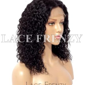 Water Wavy Burmese Virgin Human Hair 13x6 Inches Lace Front Wig