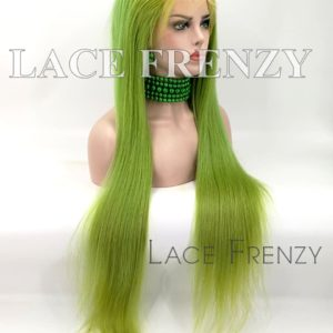 Esmaralda Green Natural Straight Chinese Virgin Hair Full Lace Wig