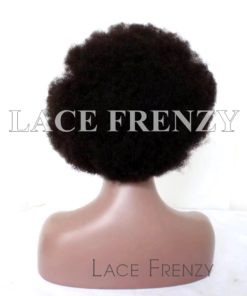 Kinky Afro Virgin Human Hair Lace Front Wig