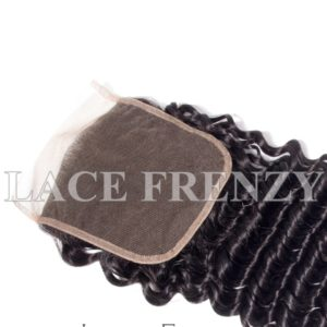 Deep Wave Virgin Human Hair 5x5 Inches Closure + 3 Layered Bundle Kit