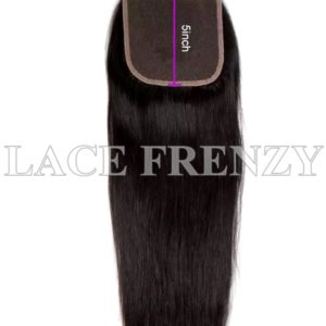 Straight Virgin Human Hair 5X5 Inches Lace Top Closure