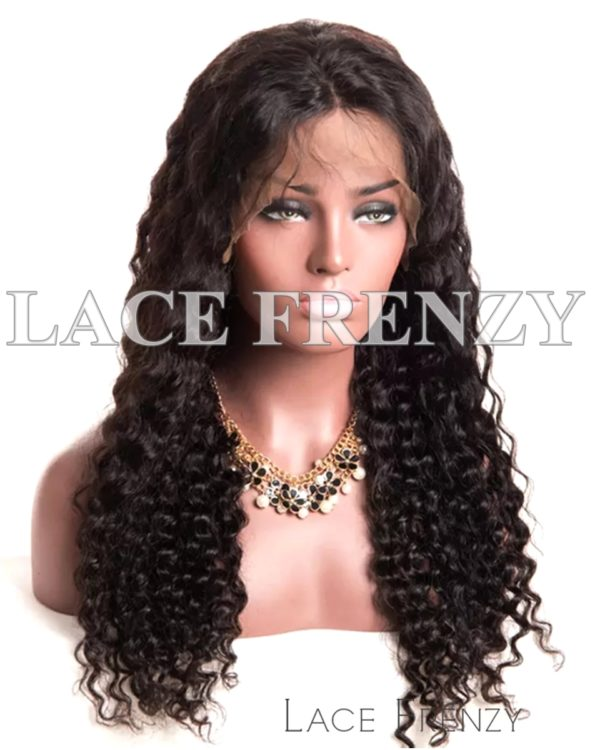 Katty Deep Wave Indian Remy Human Hair Silk Top Lace Front Wig