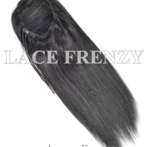 Virgin Human Hair Straight Drawstring Ponytail Hair Extension