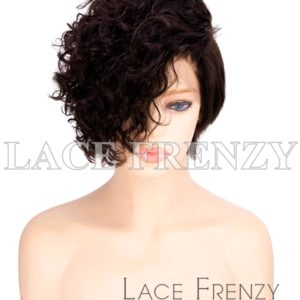 Allura Curly Crop Cut Virgin Human Hair Lace Front Wig