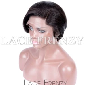 Calli Straight Crop Cut Virgin Human Hair Lace Front Wig
