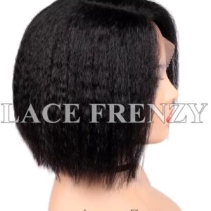 Dagny Yaki Straight Crop Cut Virgin Human Hair Lace Front Wig