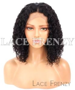 Toni Deep Curly Bob Cut Brazilian Virgin Human Hair Lace Front Wig