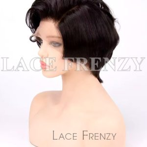 Ireland Crop Cut Virgin Human Hair Lace Front Wig