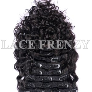 Malaysian Virgin Human Hair Water Wavy 8pcs Clip-In Hair Extension