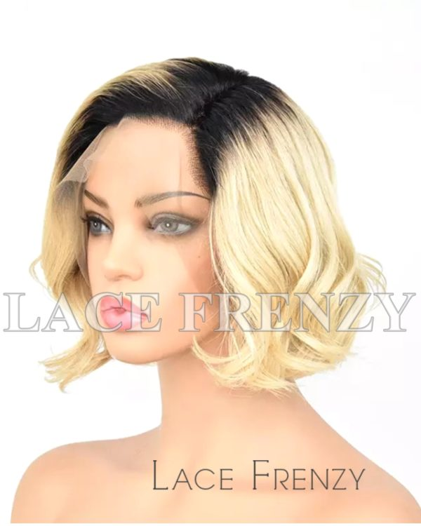 Janay Ombre Wavy Virgin Human Hair Lace Front Wig