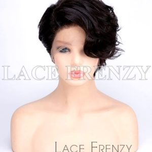 Aphrodite Asymmetrical Pixie Cut Virgin Human Hair Full Lace Wig