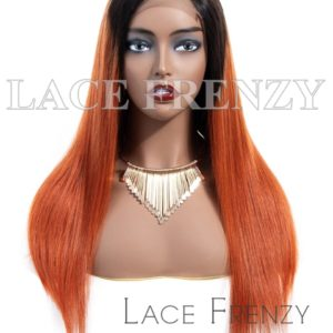 Celine Straight Two Toned Virgin Human Hair Lace Front Wig