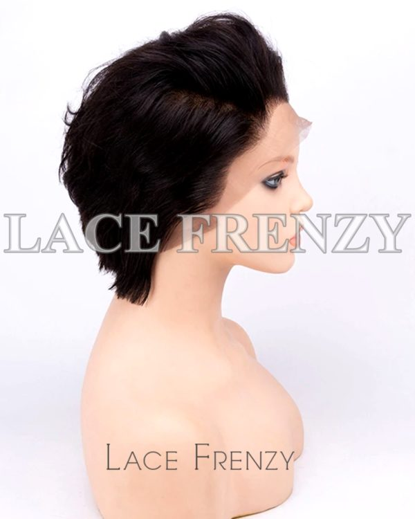 Harlow Natural Straight Virgin Human Hair Pixie Cut Full Lace Wig