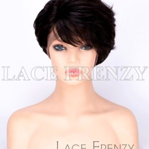 Kalila 8 Inches Straight Virgin Human Hair Pixie Cut Full Lace Wig