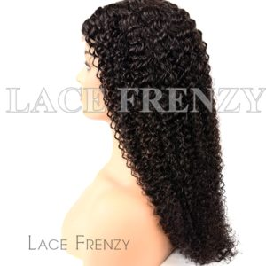 Virgin Human Hair Kinky Curly Illusion Scalp 360 Wig