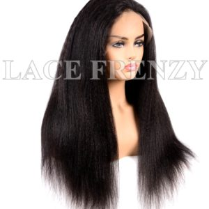 Virgin Human Hair Kinky Straight Illusion Scalp 360 Wig